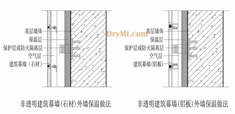 框架结构,剪力墙结构建筑;非透明建筑幕墙可为石材幕墙,铝单板幕墙,铝