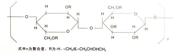 产品库 砂浆助剂 纤维素醚  一,化学名称及结构式:羟丙基甲基纤维素