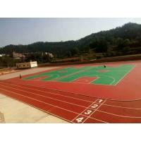 承接苏浙皖等地区全塑型防滑PU塑胶篮球、排球等场地施工
